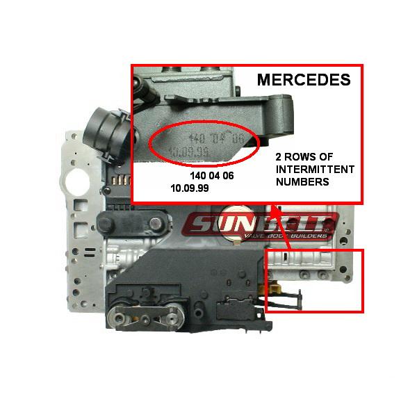 Mercedes 722 6 Valve Body  U2013 Sunbelt Valve Bodies